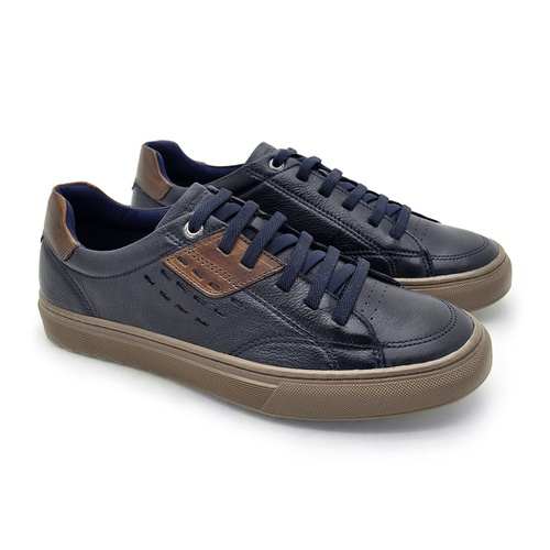 Sapatenis em Couro Casual Masculino Connect - Royal