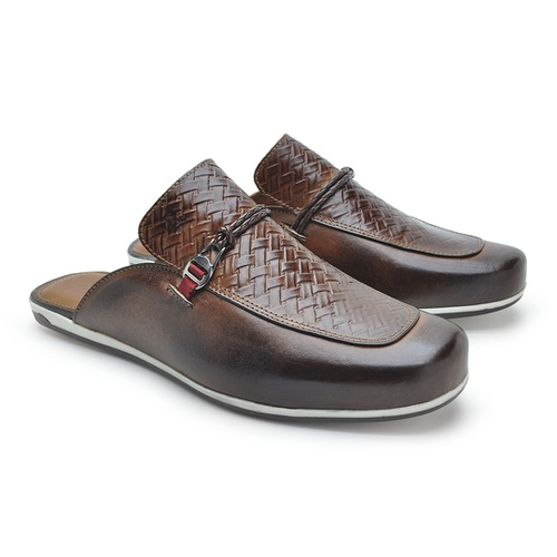 Mule Masculino Dumont em Couro - Whisky