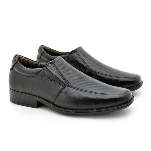 Sapato Social Fortaleza Infantil em Couro - Preto