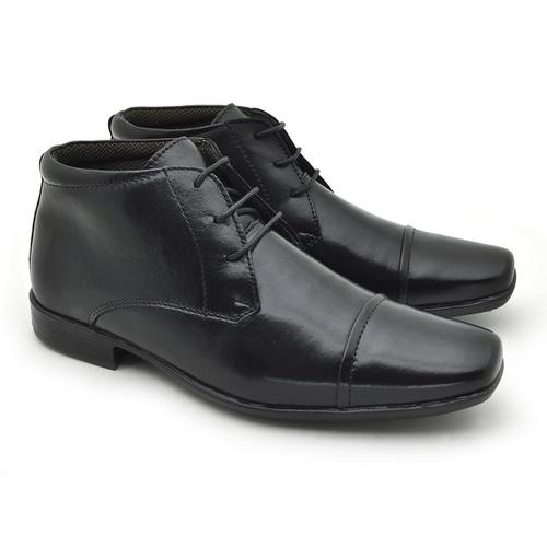 Sapato Social Masculino Fortaleza Couro Preto