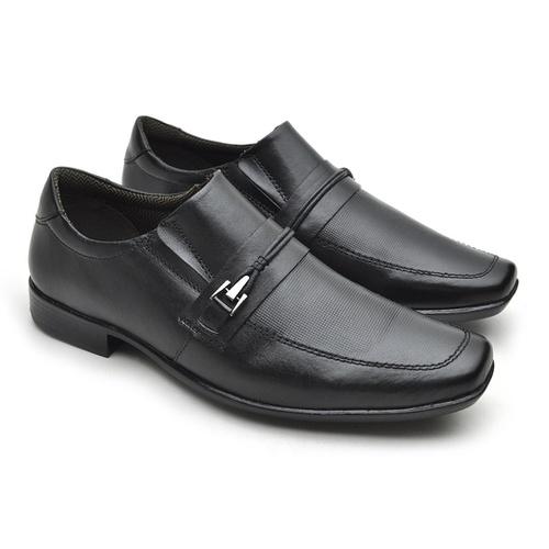 Sapato Masculino Social Fortaleza Couro - Preto