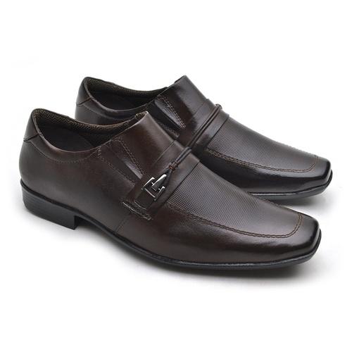 Sapato Masculino Social Fortaleza em Couro - Café