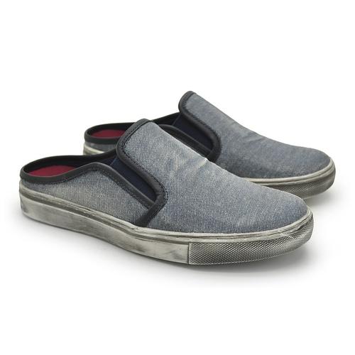 Mule Masculino Stratus Eco em Lona - Jeans
