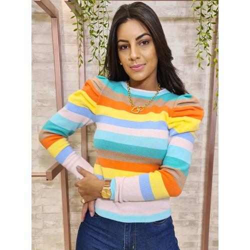 Blusa em tricot Bia - Candy Colors - BL5887 - LOJA TUTTI FRUTTI