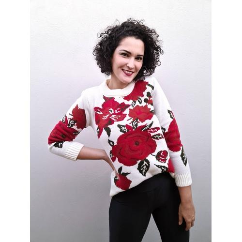 Blusa em tricot Lara - Off White - BL89668 - LOJA TUTTI FRUTTI