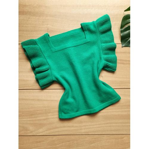 Blusa em tricot Marília - Verde Bandeira - BL055 - LOJA TUTTI FRUTTI