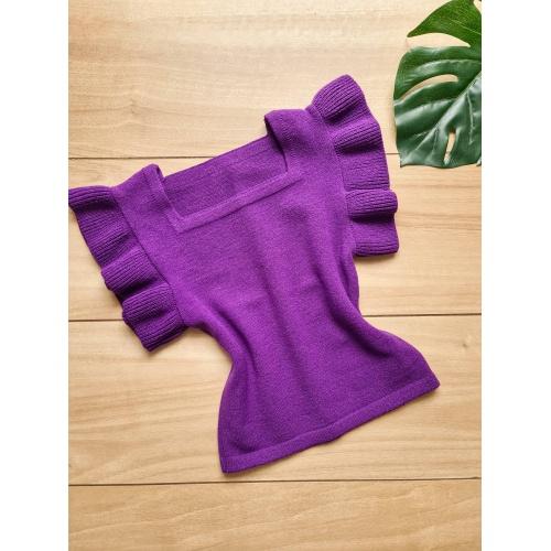 Blusa em tricot Marília - Roxa - BL054 - LOJA TUTTI FRUTTI