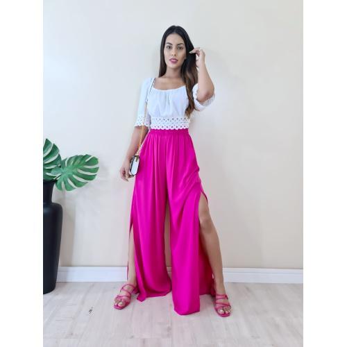 Calça Pantalona Tais - Pink - C3685 - LOJA TUTTI FRUTTI