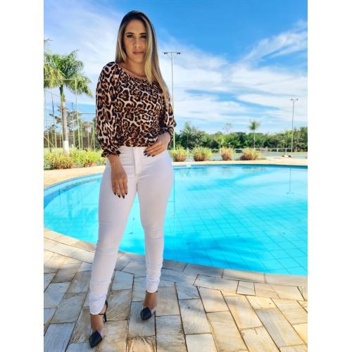 Calça Jeans Carmem - Delavê Cintura Alta - C021 - LOJA TUTTI FRUTTI