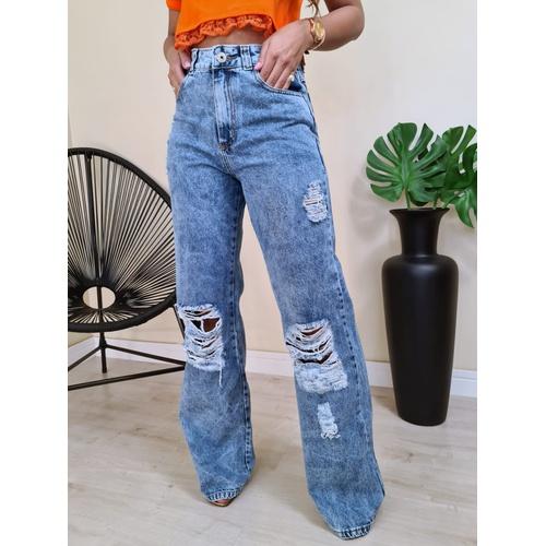 Calça Jeans Nexxo - Wide Leg - C016 - LOJA TUTTI FRUTTI