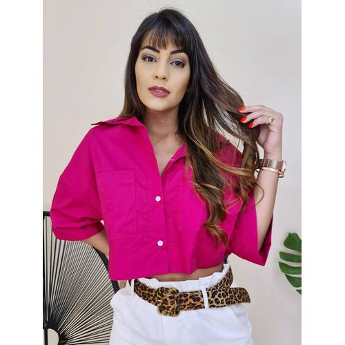 Cropped Camisa Fiorella - Pink - B4563 - LOJA TUTTI FRUTTI