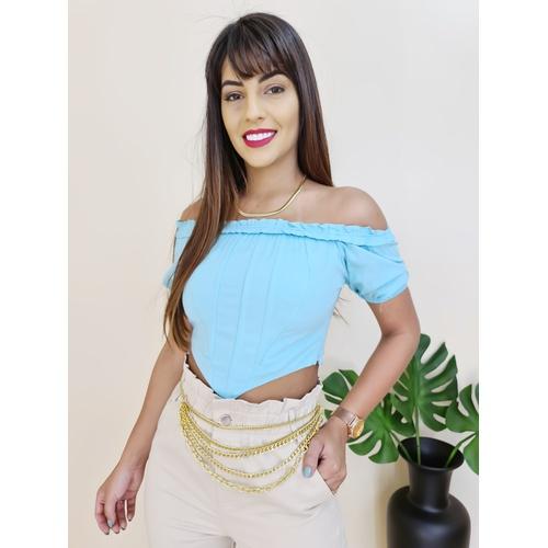 Ciganinha Gisela - Azul - BL856 - LOJA TUTTI FRUTTI