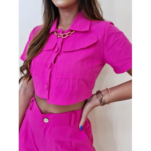 Cropped Camisa Turquia - Pink - BL105 - LOJA TUTTI FRUTTI