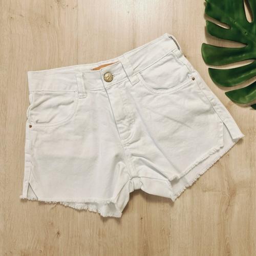 Short Jeans Branco - SH6662 - LOJA TUTTI FRUTTI
