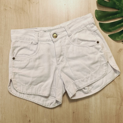 Short Jeans Branco - SH2215 - LOJA TUTTI FRUTTI