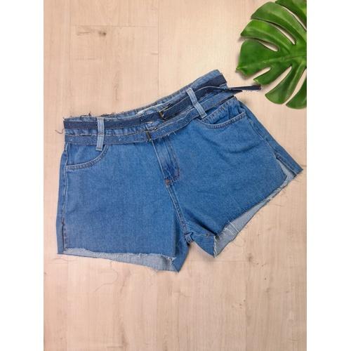 Short Jeans com dois cintos - SH1544 - LOJA TUTTI FRUTTI