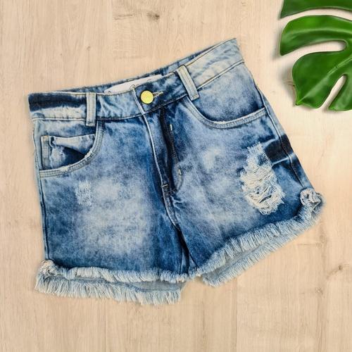 Short Jeans MC Manchado - SH1712 - LOJA TUTTI FRUTTI