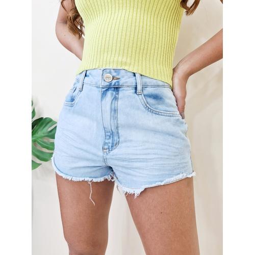 Short Jeans Claro - Sofi - SH129 - LOJA TUTTI FRUTTI