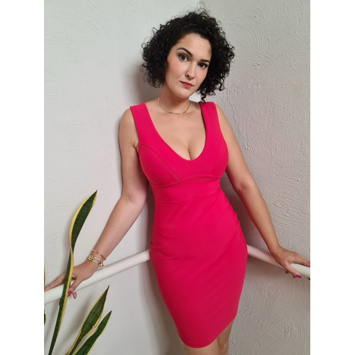 Vestido Midi QCL Belle - Vermelho Vivo - VL01466 - LOJA TUTTI FRUTTI