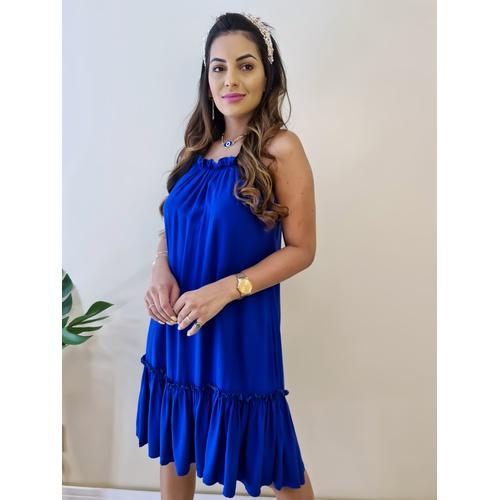 Vestido Heloisa - Azul Bic - V704 - LOJA TUTTI FRUTTI