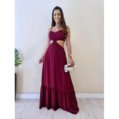 Vestido Agatha - Marsala - V321 - LOJA TUTTI FRUTTI
