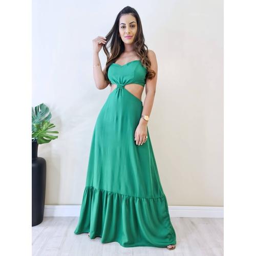 Vestido Agatha - Verde Folha - V321 - LOJA TUTTI FRUTTI