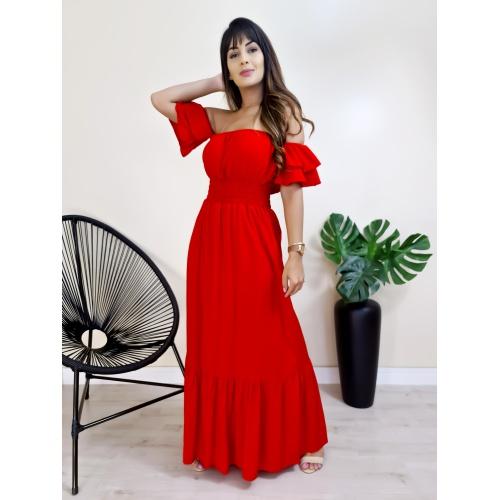 Vestido Charlotte - Vermelho - V741 - LOJA TUTTI FRUTTI