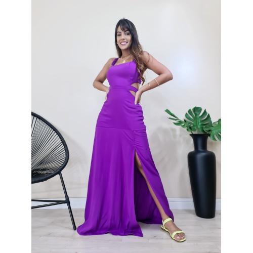 Vestido Cingapura - Fucsia - V004 - LOJA TUTTI FRUTTI