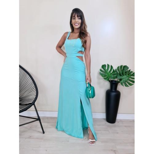 Vestido Cingapura - Verde Água - V004 - LOJA TUTTI FRUTTI