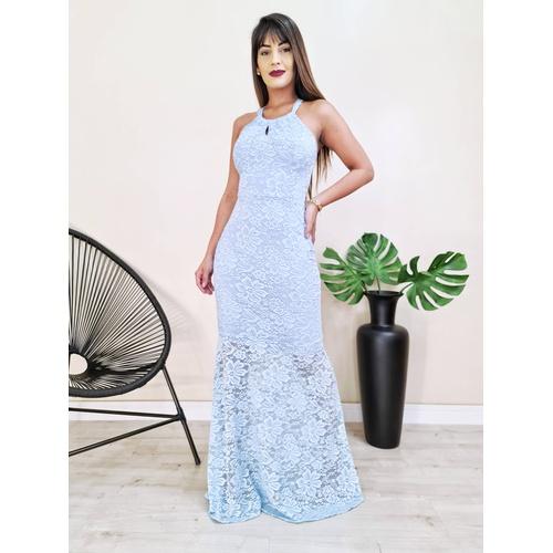 Vestido Hanna - Azul Bebe - V9972 - LOJA TUTTI FRUTTI