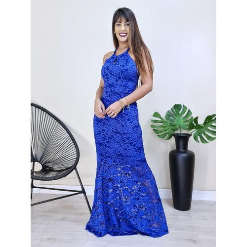 Vestido Hanna - Azul Bic - V9972 - LOJA TUTTI FRUTTI