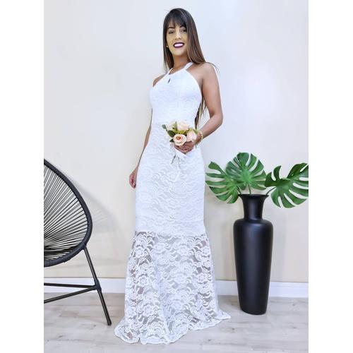 Vestido Hanna - Branco - v9972 - LOJA TUTTI FRUTTI