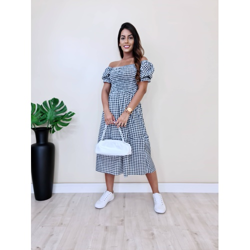 Vestido Holanda - Xadrez - V0890 - LOJA TUTTI FRUTTI