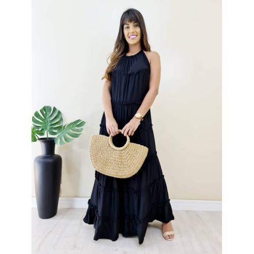 Vestido Juliette Longo - Preto - V1399 - LOJA TUTTI FRUTTI