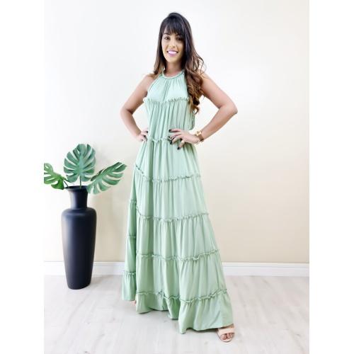 Vestido Juliette Longo - Verde Bebê - V1399 - LOJA TUTTI FRUTTI