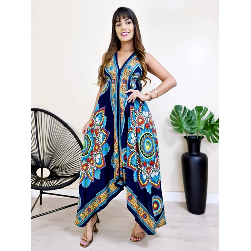 Vestido Lenço - Azul Marinho - V1525 - LOJA TUTTI FRUTTI