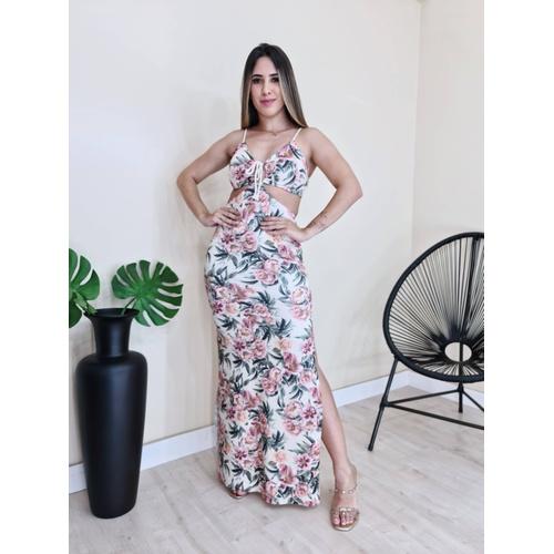 Vestido Liana - Floral - V0600 - LOJA TUTTI FRUTTI