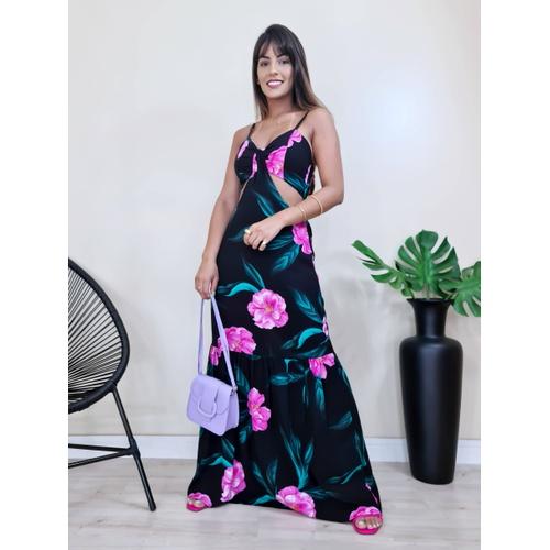 Vestido Los Angeles - Floral - V18702 - LOJA TUTTI FRUTTI