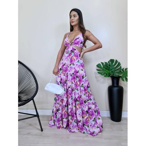 Vestido Nalu - Floral Lilás - V1447 - LOJA TUTTI FRUTTI