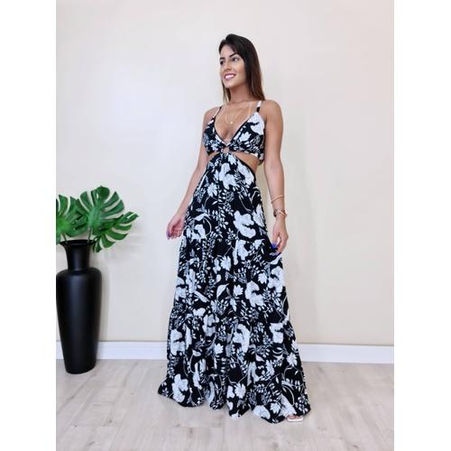 Vestido Nalu - Floral Preto - V1447 - LOJA TUTTI FRUTTI
