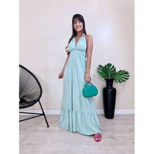 Vestido Viena- Verde Menta - V3060 - LOJA TUTTI FRUTTI