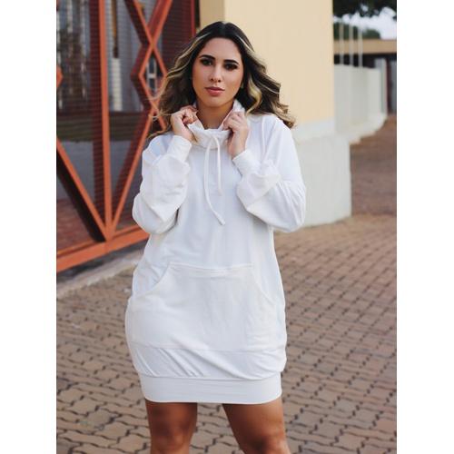 Vestido Moletinho Nicole - Off White - V002 - LOJA TUTTI FRUTTI