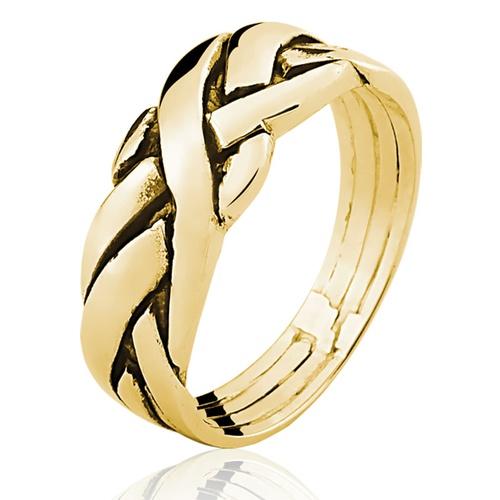 Anel de Ouro 18/750 Masculino AN06