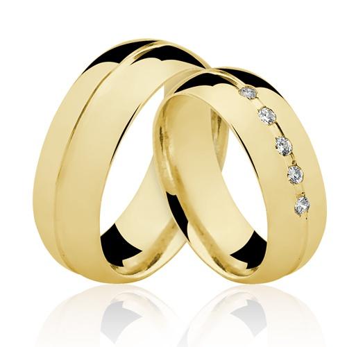 Alianças de Ouro 18k/750 AL130