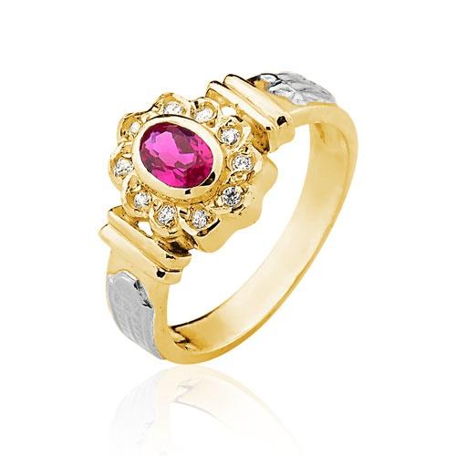 Anel de Formatura em Ouro 18k/750 com Diamante ANF41