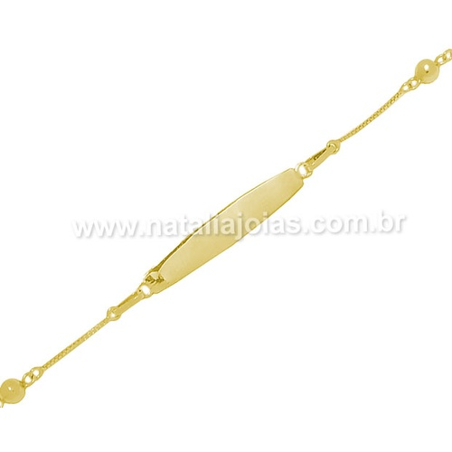 Pulseira de Ouro 18k/750 Infantil PL15
