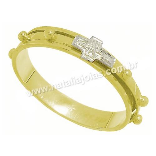 Anel de Ouro 18k/750 Terço Giratorio AN08