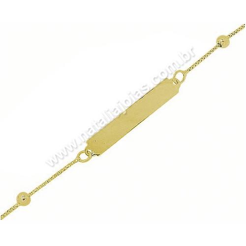 Pulseira de Ouro 18k/750 Infantil PL14