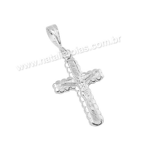 Pingente de Prata 925 Crucifixo PG24