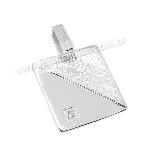 Pingente de Prata 925 Placa PG02